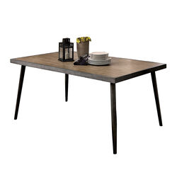 Vilhelm I Modern Gray Metal Dining Table
