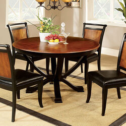 Salida I Transitional Dining Table, Acacia And Black