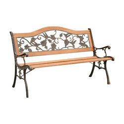 Alba Transitional Park Bench, Antique Oak