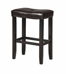 Wooden Counter Height Stool (Set-2), Espresso Brown & Black