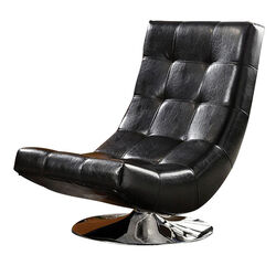 Trinidad Contemporary Swivel Chair, Black