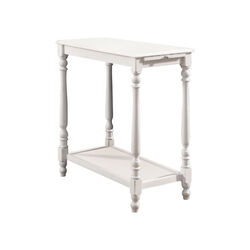 Deering Transitional Side Table, White Finish