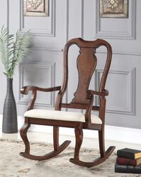 Sheim Rocking Chair, Cream and Brown