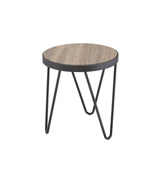 Bage End Table, Weathered Gray Oak