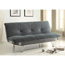 Retro Chick Sofa Bed with speakers, Gray