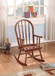Elegant Wooden Rocking Chair, Tobacco Brown