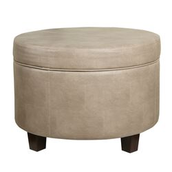 Faux Leather Upholstered Wooden Ottoman with Lift Off Lid Storage, Brown