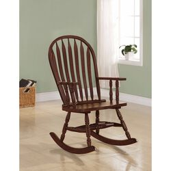 Traditional Style Rocking Porch Chair, Brown
