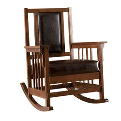 Apple Valley Transitional Apple Valley Rocker Chair, Expresso Finish