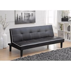 Contemporary Sofa Bed, Black