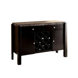 Gladstone Contemporary Server With Marble Top, Brown
