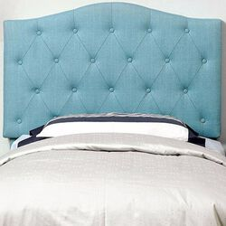 Alipaz Contemporary Twin Size Headboard, Blue