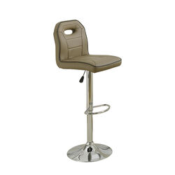 Swivel Bar Stool With Adjustable Height And Foot rest Set Of 2 Brown
