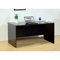 Urbane Dark Brown Finish Computer And Writing Desk.