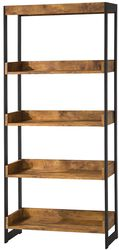 Bookcase With 4 Open Shelves, Antique Finish
