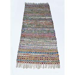 Fringe Ends Jute/Recycle Cotton Cuttings Monterey Chindi Rug, Multi