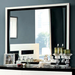 Rutger Contemporary Mirror, White/Black