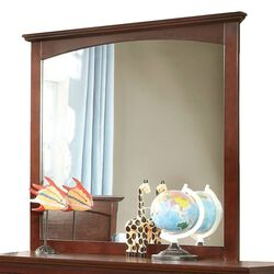 Colin Transitional Mirror, Cherry