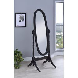 Aesthetically Charmed Oval Shaped Cheval Mirror, Black
