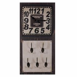 Tick-Tock Metal Wall Clock,Brown