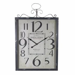 Monochrome Metal Wall Clock,Black