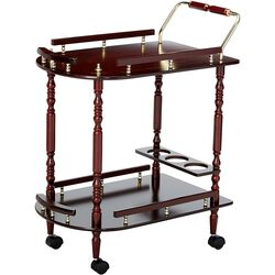 2-Tier Serving Cart, Brown