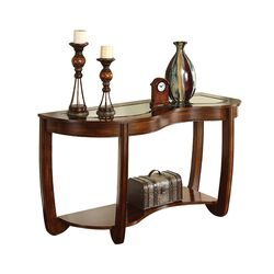 Crystal Falls Transitional Style Sofa Table