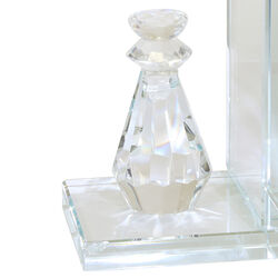 Glass Made Chess Piece Bookend, Pair of 2, Clear