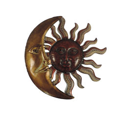 Sun and Moon Wall Art, Metal