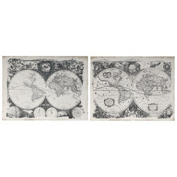 Beautiful Antique Map Prints, Black and White