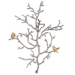 Aluminum Branch Wall Sculpture, Small, Silver