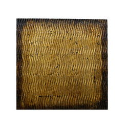 Modern Style Wood Wall Decor with Patterned Carving, Large, Gold & Brown