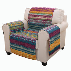 Polyester Arm Chair Protector with Tribal Print, Multicolor