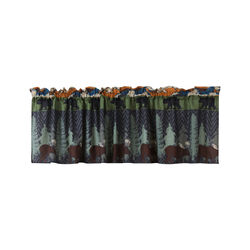 Polyester Valance with Nature Inspired Print, Multicolor