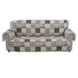 Waterproof Lining Sofa Protector with Plaid Square Design, Multicolor - BM223410