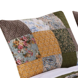 Austin 36 x 20 Cotton King Pillow Sham with Floral and Paisley Print, Multicolor
