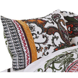 Detroit Fabric Standard Size Sham with Tribal Motif Prints, Multicolor
