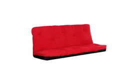 Full Size Reversible 6 inch Tufted Futon Mattress, Red and Black