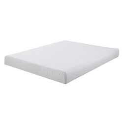 Twin Size Mattress with Patterned Fabric Upholstery, White