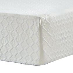 Fabric Upholstered California King Mattress with Memory Foam Layer, White