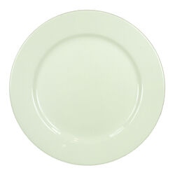 Contemporary Style Round Shape Ceramic Plate with Great Durability, White