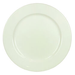 Elegantly Designed Round Shape Ceramic Plate with Great Durability, White
