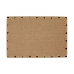 Wooden Corkboard with Nailhead Details, Medium, Brown and Bronze