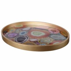 Contemporary Elegant Tray, Gold