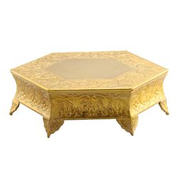 Metal Wedding Cake Stand 14 inches, Gold
