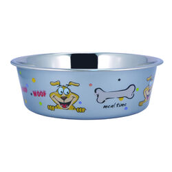Multi Print Stainless Steel Dog Bowl By Boomer & Chaser-Set of 2