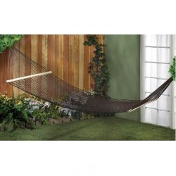 Brown Recycled Cotton Two-Person Hammock