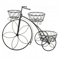Metal Tricycle Plant Stand with Three Baskets