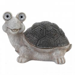 Turtle Garden Statue with Solar Light-Up Eyes