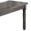 Weathered Lookinhg Dining Table, Gray